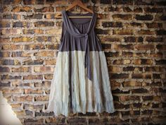 Iridescent Tank Top Tunic// Large// Eco Urban Chic by emmevielle, $69.00