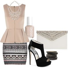 """""""Blush and Black"""" by sharon-grisnich on Polyvore"""