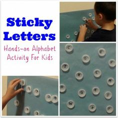 Sticky Letters - pinned by @PediaStaff – Please Visit  ht.ly/63sNt for all our pediatric therapy pins