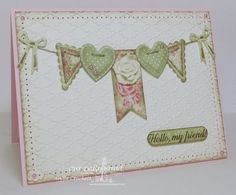 Stamps - Our Daily Bread Designs Ornate Border Sentiments, ODBD Blushing Rose Paper Collection, ODBD Custom Ornate Hearts Dies, ODBD CUstom Pennants Dies, ODBD Custom Pennant Swag Die (bows)