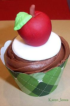 Teacher appreciation cupcake