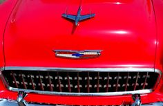 55 Chevy Grill Red Classic