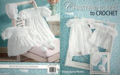 Kay Meadors 'Christening Sets to Crochet' Pattern Booklet Leisure Arts VERY RARE
