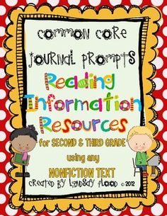Common Core Journal Prompts: Informational Resources {FREE!!}