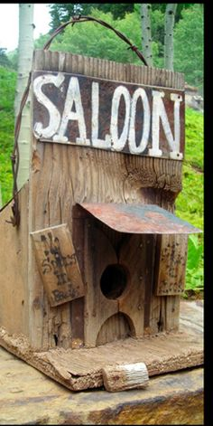 Soffia Wardy saloon birdhouse