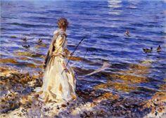 Girl Fishing - John Singer Sargent, 1913