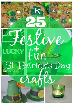 25 Festive & Fun St. Patrick's Day #Crafts