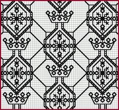 blackwork black work, needlework, crown, stitch, blackwork pattern, embroideri black
