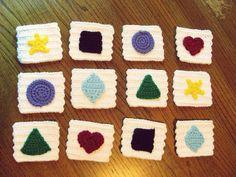 Crochet Memory Match Game: free pattern
