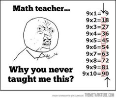 mind blown, school, math lessons, multiplication facts, fingers