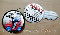 Kids, Clutter and Chaos: Little Brother's 2nd Birthday - Race Car Party Invitation Idea