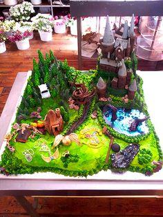 l torta de mi próximo cumpleaños! Hogwarts Harry Potter themed cake - Charly's Bakery