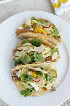 Thai Pork Tacos with Mango Radish Slaw - Fabtastic Eats