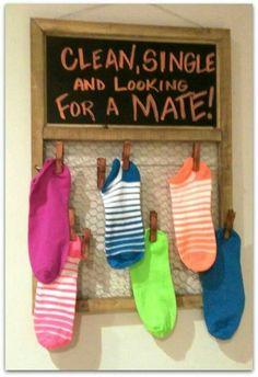 sock, idea, cleanses, laundry storage, room decorations, laundry rooms, hous, laundry baskets, laundri room