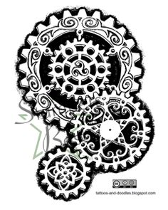 Steampunk Gears Rubber Stamp