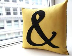 Ampersand Pillow, $30 decor, etsi, ampersand pillow, hous idea, babi, design, ampersand collect, pillows, typographi