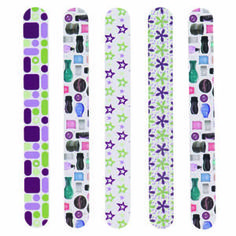 NEW Scentsy Nail File Variety Pack (Back view). Every purse needs one. Wouldn't it be great if your customers were carrying the one YOU gave them? Use the Scentsy Nail Files as giveaways at parties, incentives for your team, or treat yourself to a pack! Now each pack of 5 has a variety of fun new designs and important messages like: Buy, Host, Join! Free catalog! Let's Party! Fill your life with fragrance! Ask me for a free catalog!