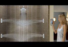 A Vertical Spa Digital Shower! #want