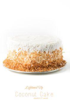 Lightened Up Coconut Cake | chocolateandcarrots.com