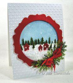 Snowy Pine Tree Village