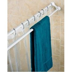 Duo Shower Curtain Rod and towel holder.  What a neat idea!