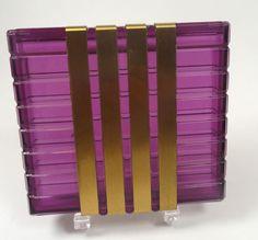 Ziegfeld Purple Lucite Cigarette Case