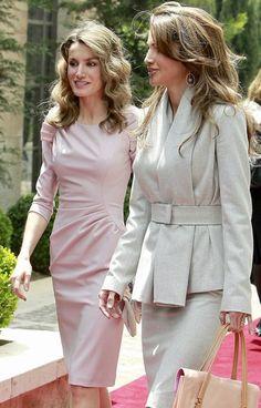 La princesa Letizia y Rania de Jordania