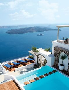 ICONIC SANTORINI, Greece via Architectural Digest #placesivebeen
