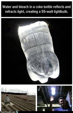 Life hack playhous, roof, plastic bottles, soda bottles, bottle lights, bulb, zombie apocalypse, sunlight, water bottles