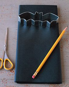 Bat Tissue-Paper Garland - Martha Stewart Holidays