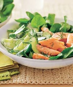 Salmon and Watercress Salad recipe from realsimple.com #myplate #protein #vegetables