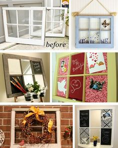 Uses for old windows - I Confess, I Pull Things From Your Trash