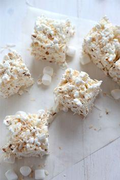 Kettle Corn Krispie Treats recipe