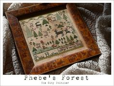 crossstitch, forest
