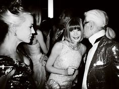 Daphne Guinness, Anna Wintour & Karl Lagerfed