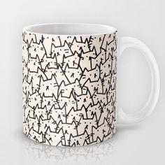 A Lot of Cats Mug by Kitten Rain, society6 #Mugs
