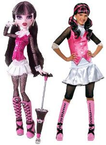 order a bunch of monster high costumes for the party so all the girls can dress up as a
