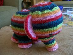 KNIT elephant - pattern included. So cute