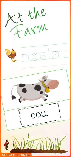 Free worksheets to introduce children to farm animals, including the name of each animal and how to recognize each animal.