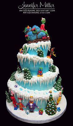 Grinch cake.