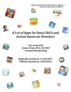 Social Skills and Autism Spectrum Disorders Application List - Pinned by @PediaStaff – Please Visit ht.ly/63sNtfor all our pediatric therapy pins