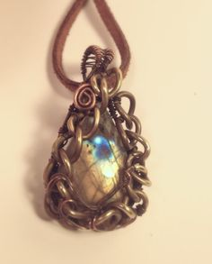 Unique Oxidized Copper Wire Wrapped Quality by CraftsbyLayna, $20.00