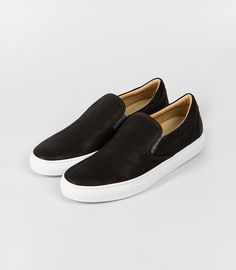 leather slip-on | bl