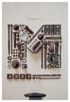 Found object letters. @ DIY Home Design
