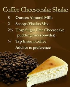 Love coffee and the Body by Vi shakes? Check out this great way to try the Body by Vi cheesecake shake.     Get more information at: www.WeightLossbyMelissa.BodybyVi.com