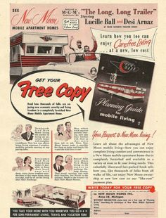 1954 Lucy & Desi New Moon Mobile Home Vintage Mid Century