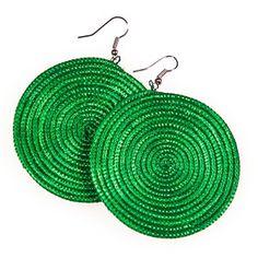 Rwandan Sisal Earrings Green now featured on Fab.