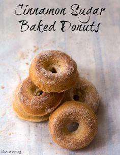 Cinnamon Sugar Baked Donuts