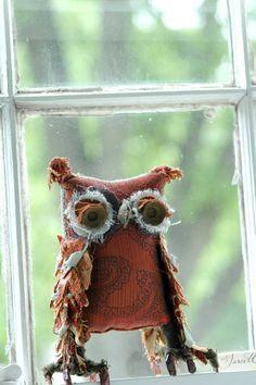 cute scrappy owl
