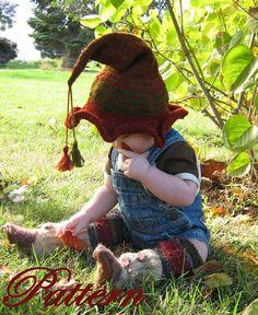 Baby Toddler Childrens Elf  Hat PATTERN Price by FullKnittedJacket, $4.00